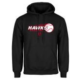 Black Fleece Hoodie-Hawks Baseball w/ Flying Ball