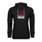 Adidas Climawarm Black Team Issue Hoodie-Hartford Hawks w/ Hawk Stacked