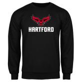 Black Fleece Crew-Hartford w/ Hawk Combination Mark