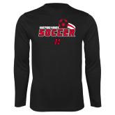 Performance Black Longsleeve Shirt-Hartford Hawks Soccer Swoosh