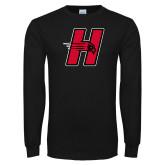 Black Long Sleeve TShirt-Primary Logo Mark H
