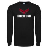 Black Long Sleeve TShirt-Hartford w/ Hawk Combination Mark