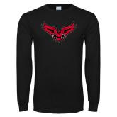 Black Long Sleeve TShirt-Full Body Hawk