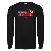 Black Long Sleeve TShirt-Hartford Hawks Soccer Swoosh