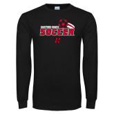Black Long Sleeve TShirt-Hartford Hawks Soccer Swoosh