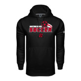 Under Armour Black Performance Sweats Team Hoodie-Hartford Hawks Soccer Swoosh