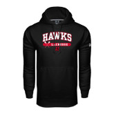 Under Armour Black Performance Sweats Team Hoodie-Hawks Lacrosse Arched
