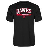 Syntrel Performance Black Tee-Hawks Lacrosse Arched