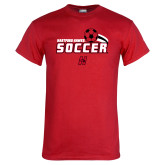 Red T Shirt-Hartford Hawks Soccer Swoosh