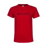 Youth Red T Shirt-Hartford Logotype