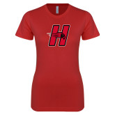 Next Level Ladies SoftStyle Junior Fitted Red Tee-Primary Logo Mark H