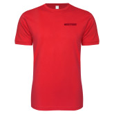 SoftStyle Red T Shirt-Hartford Logotype