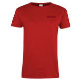Ladies Red T Shirt-Hartford Logotype