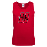 Red Tank Top-Primary Logo Mark H