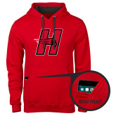 Contemporary Sofspun Red Hoodie-Primary Logo Mark H
