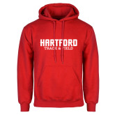 Red Fleece Hoodie-Track and Field