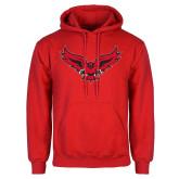 Red Fleece Hoodie-Full Body Hawk