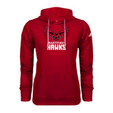 Adidas Climawarm Red Team Issue Hoodie-Hartford Hawks w/ Hawk Stacked