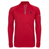 Under Armour Red Tech 1/4 Zip Performance Shirt-Primary Logo Mark H