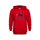 Youth Red Fleece Hoodie-Primary Logo Mark H
