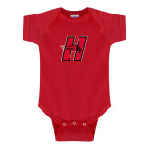 Red Infant Onesie-Primary Logo Mark H