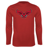 Syntrel Performance Red Longsleeve Shirt-Full Body Hawk