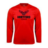 Syntrel Performance Red Longsleeve Shirt-Tennis