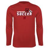Performance Red Longsleeve Shirt-Hartford Hawks Soccer Swoosh