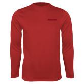 Performance Red Longsleeve Shirt-Hartford Logotype
