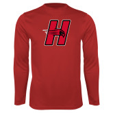 Syntrel Performance Red Longsleeve Shirt-Primary Logo Mark H
