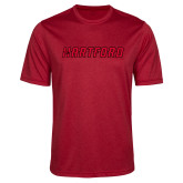 Performance Red Heather Contender Tee-Hartford Logotype