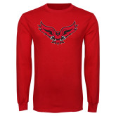 Red Long Sleeve T Shirt-Full Body Hawk