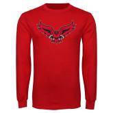 Red Long Sleeve T Shirt-Full Body Hawk