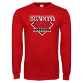 Red Long Sleeve T Shirt-2018 Baseball Champions