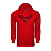 Under Armour Red Performance Sweats Team Hoodie-Full Body Hawk
