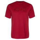 Performance Red Tee-Hartford Logotype