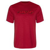 Syntrel Performance Red Tee-Hartford Logotype