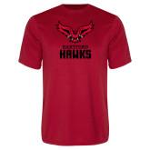 Syntrel Performance Red Tee-Hartford Hawks w/ Hawk Stacked