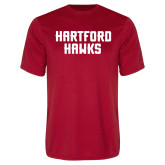 Performance Red Tee-Hartford Hawks Stacked