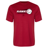 Performance Red Tee-Hawks Baseball w/ Flying Ball