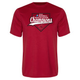 Performance Red Tee-2018 Baseball Champions