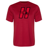 Performance Red Tee-Primary Logo Mark H