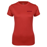 Ladies Syntrel Performance Red Tee-Hartford Logotype