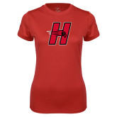 Ladies Syntrel Performance Red Tee-Primary Logo Mark H