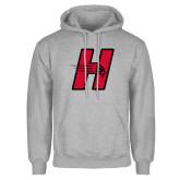 Grey Fleece Hoodie-Primary Logo Mark H