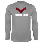 Performance Steel Longsleeve Shirt-Hartford w/ Hawk Combination Mark