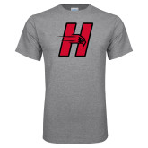Grey T Shirt-Primary Logo Mark H