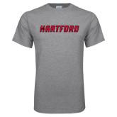 Grey T Shirt-Hartford Logotype