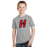 Youth Grey T-Shirt-Primary Logo Mark H