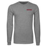 Grey Long Sleeve T Shirt-Hartford Logotype